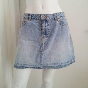 Denim Mini Skirt 90s Vintage Cut Off Jean Skirt